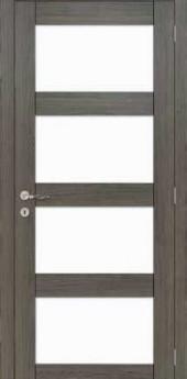 Eik antraciet serie 10 quadra glass mat
